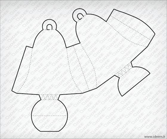 bell shaped box vector template free ideem idee montabili