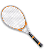 Tennis racket template vettoriale