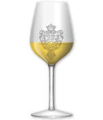 White wine glass template vettoriale