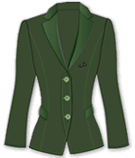 Woman suit jacket vector template